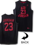 KT044 ジュニア Jordan Fly Since 1982 Jersey ジョーダン ジャージ ノースリーブ キッズ 黒赤