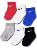 BA651 ベビー ナイキ ソックス 6足セット Nike Socks ベビー服 赤ちゃん 靴下 マルチカラー 【メール便対応】
