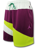 SJ925 メンズ ジョーダン ショーツ Jordan Jumpman Wave Tricot Shorts ハーフパンツ ボルドー黄緑【ルーズフィット】