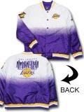 NJ363 メンズ NBA ロサンゼルス・レイカーズ ボンバージャケット Ultra Game Los Angeles Lakers Bomber Jacket ウルトラゲーム 中綿ジャケット 白紫黄色