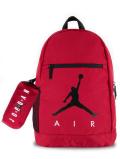 JB147 ジョーダン ペンケース付き リュックサック Jordan Backpack & Pencil Case バックパック 赤黒白