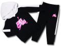 BP031 キッズ 子供用 ジョーダン パーカー&パンツ セットアップ Jordan Jumpman Classics Toddler Set 黒白ピンク
