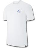 JT110 メンズ ジョーダン Tシャツ Jordan Air Logo Embroidered T-Shirt 白水色 【メール便対応】