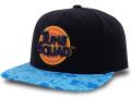 "FB483 ルーニー・テューンズ スペースジャム スナップバック キャップ Looney Tunes ""Space Jam"" A New Legacy Snapback Cap 帽子 黒水色"