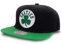 CN212 ミッチェル&ネス NBA ボストン・セルティックス スナップバックキャップ Mitchell & Ness Boston Celtics Snapback Cap 帽子 黒緑
