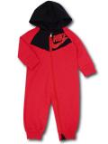 BY223 ベビー ナイキ フード付き カバーオール Nike Infant Coverall ベビー服 赤ちゃん 赤黒 【メール便対応】
