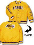 NJ364 メンズ NBA ロサンゼルス・レイカーズ ボンバージャケット Ultra Game Los Angeles Lakers Bomber Jacket ウルトラゲーム 中綿ジャケット 黄色紫白