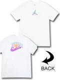 JT111 メンズ ジョーダン Tシャツ Jordan 23 Swoosh T-Shirt 白紫ネオンオレンジ 【メール便対応】