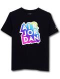 LL406 【メール便対応】 キッズ Jordan Sticker ジョーダン Tシャツ 黒マルチカラー