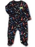 BY231 ベビー ナイキ フリースカバーオール Nike Infant Coverall ベビー服 赤ちゃん 黒ネオングリーン 【メール便対応】