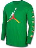 JT115 メンズ ジョーダン ロングスリーブTシャツ Jordan Sport DNA Long Sleeve 長袖 緑赤黄色 【メール便対応】