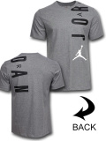 JT113 メンズ ジョーダン Tシャツ Jordan Jumpman Stretch T-Shirt 灰黒白 【メール便対応】