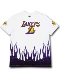 NB571 メンズ NBA ロサンゼルス・レイカーズ Tシャツ Ultra Game Los Angeles Lakers ウルトラゲーム 白紫黄色 【メール便対応】