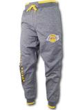 BN730 メンズ NBA ロサンゼルス・レイカーズ スウェットパンツ Ultra Game Los Angeles Lakers Pants ウルトラゲーム ダークグレー黄色