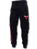 BN727 メンズ NBA シカゴ・ブルズ スウェットパンツ UNK Chicago Bulls Pants アンク 黒赤