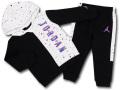 BP034 キッズ 子供用 ジョーダン パーカー&パンツ セットアップ Jordan Toddler Set 黒白インフラレッド