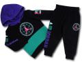 BP035 キッズ 子供用 ジョーダン パーカー&パンツ セットアップ Jordan Toddler Set 黒ティール紫