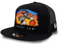 "FB484 ニューエラ ルーニー・テューンズ スペースジャム スナップバック メッシュキャップ New Era Looney Tunes ""Space Jam"" Snapback Cap 帽子 黒白"