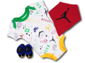 BH819 べビー Air Jordan ジョーダン ロンパース 3点セット ベビー服 赤ちゃん 白黒赤【箱付き】