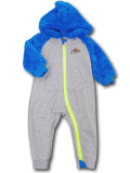 BY237 ベビー ナイキ もこもこフード付き カバーオール Nike Infant Coverall ベビー服 赤ちゃん 灰青ネオングリーン