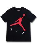 JT117 メンズ ジョーダン Tシャツ Jordan Jumpman Air T-Shirt 黒赤白 【メール便対応】