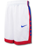 SK465 ジュニア ナイキ バスケットボールショーツ Nike Youth Shorts キッズ バスパン 白赤青【ドライフィット】 【メール便対応】