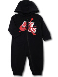 BT102 ベビー ジョーダン フード付き カバーオール Jordan Jumpman Classics Coverall ベビー服 赤ちゃん 黒赤白 【メール便対応】