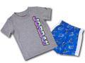 BT917 ベビー Jordan Infant Set ジョーダン Tシャツ&パンツ セットアップ 灰青白 【メール便対応】