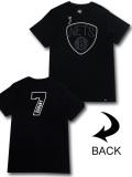 NB574 メンズ NBA ネッツ ケビン・デュラント Tシャツ '47 Brooklyn Nets Kevin Durant KD フォーティセブン 黒白 【メール便対応】