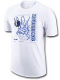 NB572 メンズ ナイキ NBA ダラス・マーベリックス Tシャツ Nike Dallas Mavericks T-Shirt 白青メタリックシルバー【ドライフィット】 【メール便対応】