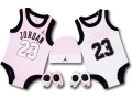 BH816 べビー ジョーダン ロンパース 5点セット Jordan Infant Set 帽子 靴下 ギフトセット ピンク白黒【箱付き】
