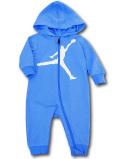 BT104 ベビー ジョーダン フード付き カバーオール Jordan Jumpman Coverall ベビー服 赤ちゃん 水色白 【メール便対応】