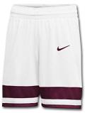 WA740 【SALE・わけあり】 ナイキ バスケットボール ショーツ Nike Basketball Shorts バスパン 白ボルドー【ドライフィット】 サイズL