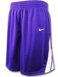 KL681 メンズ ナイキ バスケットボールショーツ Nike National Basketball Shorts バスパン 紫白【ドライフィット】