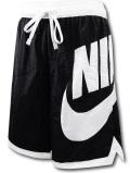 KL683 メンズ ナイキ バスケットボール ナイロンショーツ Nike Throwback Futura Shorts 黒白【ルーズフィット】