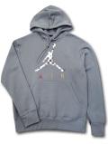WA737 【SALE・わけあり】 メンズ エアジョーダン パーカー Air Jordan AJ3 III Graphic Pullover Hoodie プルオーバー ダークグレー白 サイズL