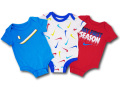 BY190 ベビー ナイキ ロンパース 3枚セット Nike Romper Baby ベビー服 赤ちゃん オリオンブルー白赤 【メール便対応】