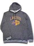 NJ365 メンズ NBA ロサンゼルス・レイカーズ パーカー Ultra Game Los Angeles Lakers Hoodie ウルトラゲーム ダークグレー白