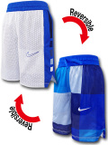 SK472 ジュニア ナイキ リバーシブル メッシュショーツ Nike Youth Reversible Shorts キッズ バスパン 白青紺 【メール便対応】
