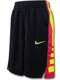SK469 ジュニア ナイキ バスケットボールショーツ Nike Youth Shorts キッズ バスパン 黒赤ネオンイエロー【ドライフィット】 【メール便対応】