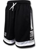 SK467 ジュニア NBA ロゴマン バスケットボールショーツ Logo Basketball Shorts キッズ ユース バスパン 黒メタリックシルバー 【メール便対応】
