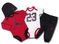 BH610 べビージョーダン Jordan Elephant 4 Piece Infant Set ロンパース 4点セット 赤白黒