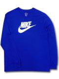 KL688 メンズ ナイキ ロングスリーブTシャツ Nike Long Sleeve 長袖 青白 【メール便対応】