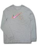 KL689 メンズ ナイキ ロングスリーブTシャツ Nike JDI Long Sleeve 長袖 灰ピンク 【メール便対応】