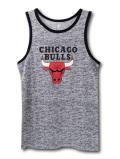KT101 【メール便対応】 キッズ NBA Chicago Bulls シカゴ・ブルズ タンクトップ 灰黒