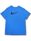 KL687 メンズ ナイキ Tシャツ Nike Dri-FIT Swoosh T-Shirt 水色黒【ドライフィット】 【メール便対応】