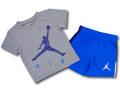 BT107 ベビー ジョーダン Tシャツ&ショーツ セットアップ Jordan Infant Set ベビー服 子供用 灰青紺 【メール便対応】