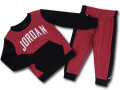BP038 キッズ 子供用 ジョーダン トレーナー&パンツ セットアップ Jordan Toddler Set ワインレッド黒白