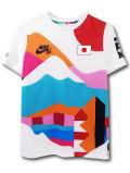 NK444 ジュニア ナイキ 東京オリンピック スケートボード 日本代表ユニフォーム Nike SB x Parra France Federation Kit Crew Jersey キッズ スケボー 白マルチカラー 【メール便対応】