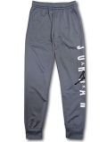 PK139 ジュニア ジョーダン トレーニングパンツ Jordan Vertical Logo Pants キッズ 長ズボン ロングパンツ ダークグレー白黒